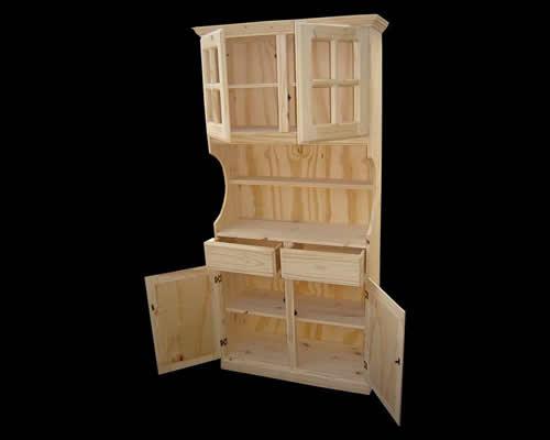Muebles de living comedor en pino for Muebles para living comedor