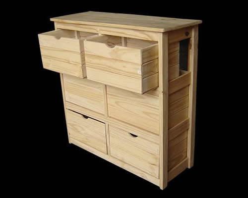 Muebles de dormitorio en pino for Muebles de pino natural